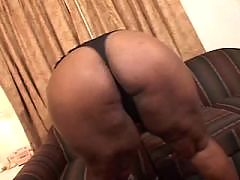 Two ebony sweethearts catching jizz
