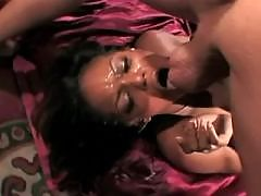 Chocolate babe in orgy on seashore