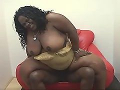 Two ebony chicks sharing white dick