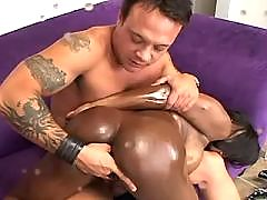 Ethnic angel fucks and gets cream