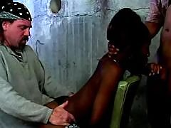 Killer ebony titfucks and sucks rod